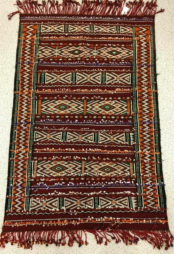 Handwoven Berber Handira Kilim Rug