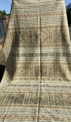 Handwoven Moroccan Berber Tiflet Tiffany Kilim Rug 360 x 212 cm