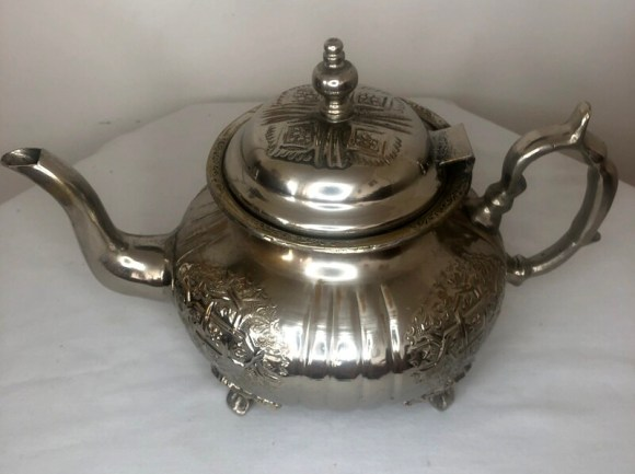 Traditional Handcrafted Silver Moroccan Teapot