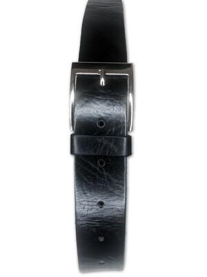 Men's Handmade Moroccan Black Leather Belt
