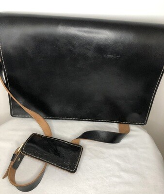 Black Moroccan Leather Messenger Bag