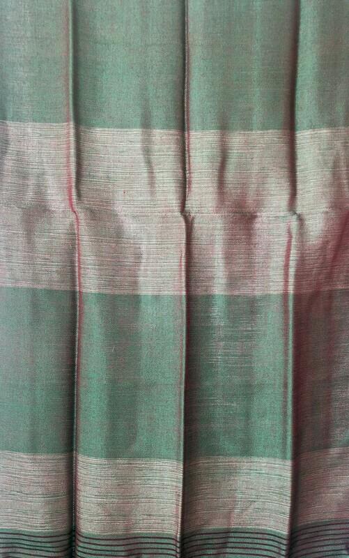 Handmade Moroccan Green & Red Sabra Silk Scarf