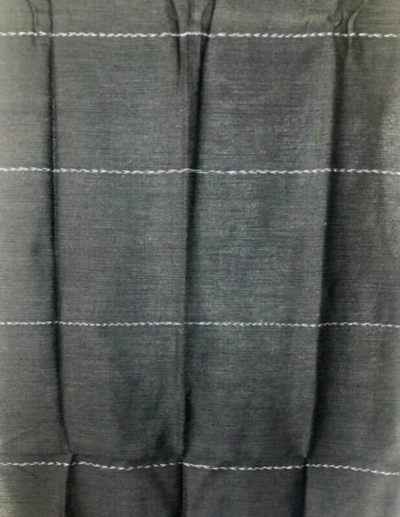 Handmade Moroccan Black Tasselled Sabra Silk Scarf