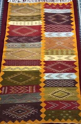 Handwoven Taznakht Berber Moroccan Rug 200 x 112cm
