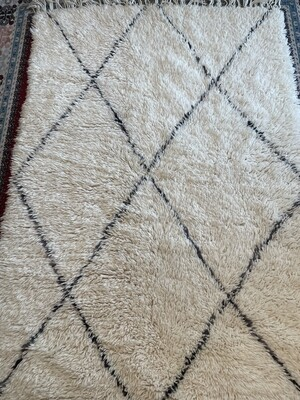 Handmade Beni Ourain Moroccan Rug 190 x 128cm
