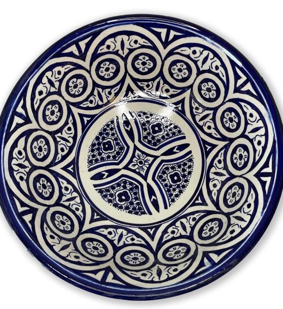 Handmade Hand-Painted Moroccan Fez Ceramic Bowl