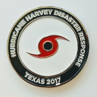 HURRICANE HARVEY CHALLENGE COIN 2017