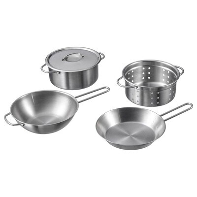 DUKTIG 5PC TOY COOKWARE SET