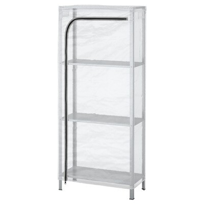 HYLLIS SHELVING UNIT, IN/OUTDOOR GALVANISED