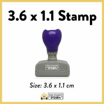 3.6 x 1.1 Custom Stamp