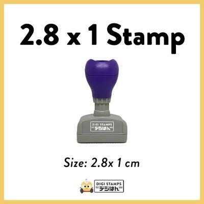 2.8 x 1 Custom Stamp