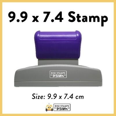 9.9 x 7.4 Custom Stamp
