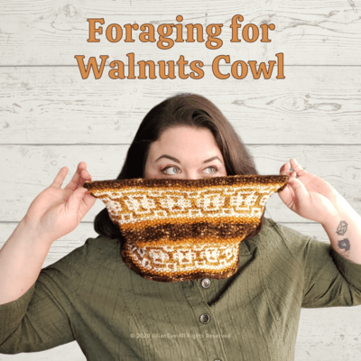 Foraging for Walnuts Knit Cowl Pattern