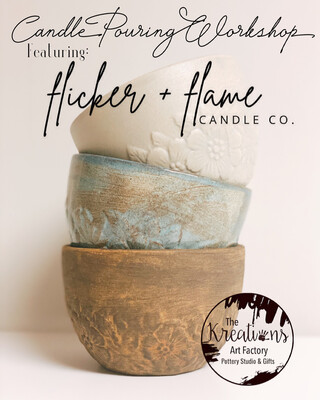 Candle Pouring Workshop with Flicker + Flame-May 21st-6pm