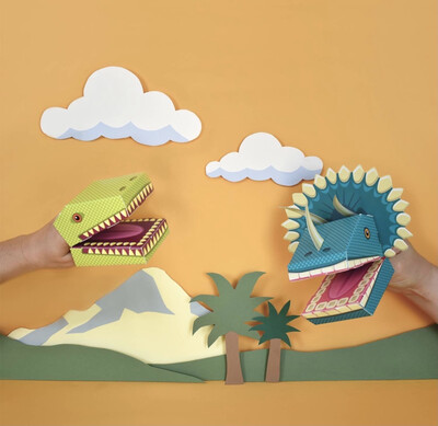 Create Your Own Dino Puppets