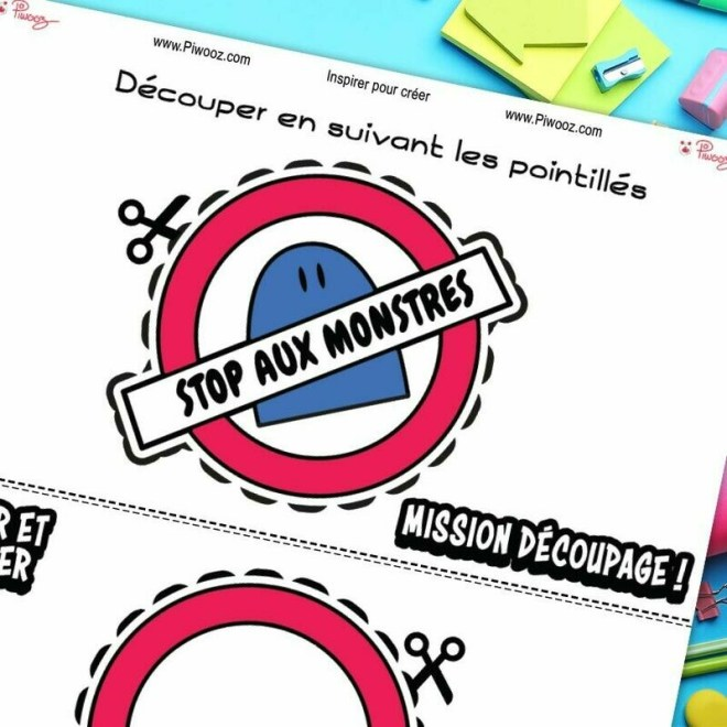 Badge Piwooz - Stop aux monstres