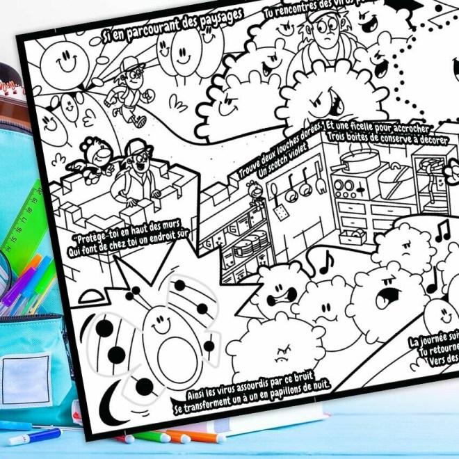L'histoire à colorier Piwooz - Stop aux virus