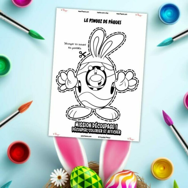 Découpage Piwooz - Le Piwooz de Pâques