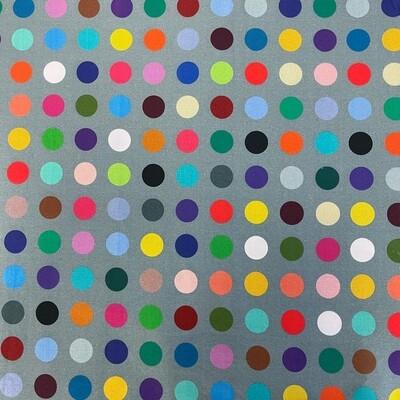 Grey Multi-Polka Dot 3-Yard Precut 108