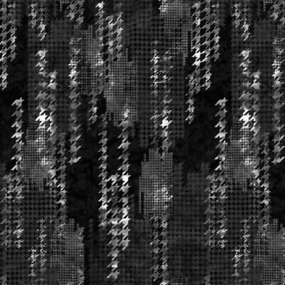 Black Houndstooth Kaleidoscope 3-Yard Precut 108