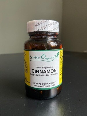 Simple Organics Cinnamon 60Lcap