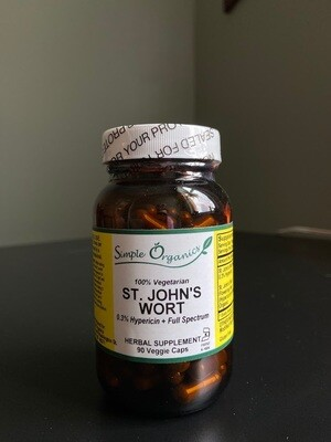 Simple Organics St Johns Wort 90cap