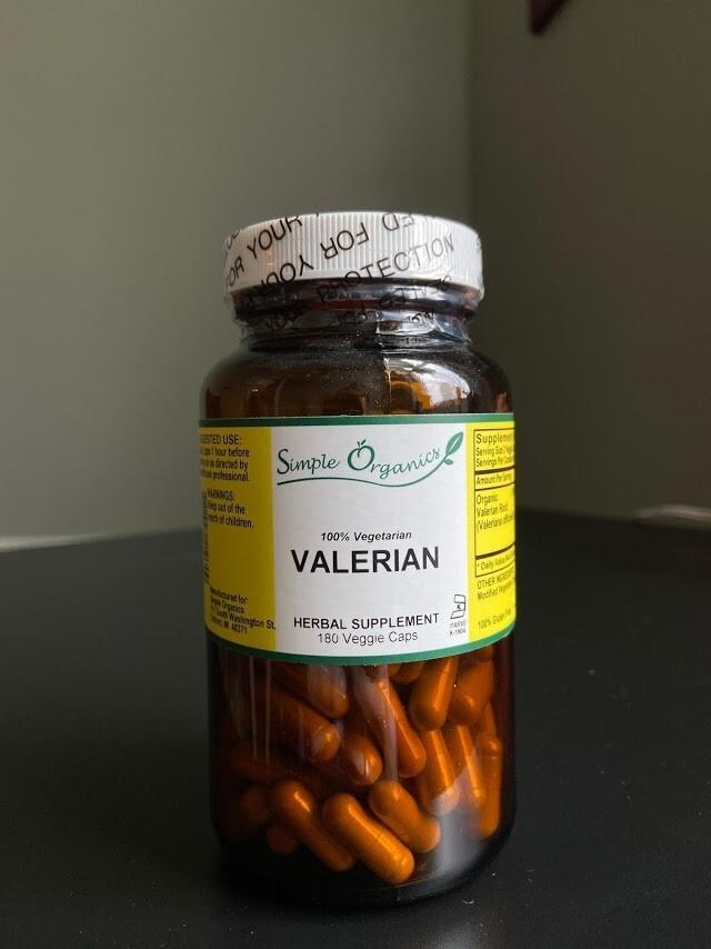 Simple Organics Valerian 180vcap