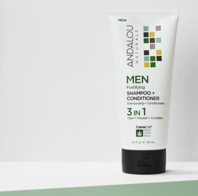 Andalou Men 3 In 1 Shampoo Conditioner 8.5oz