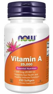 Now Vitamin A 25,000 250