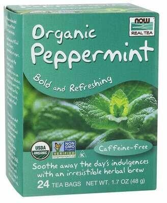 NOW Tea Peppermint 24ct
