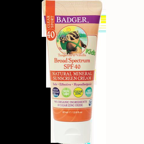 Badger Balm Spf 40 Tangerine