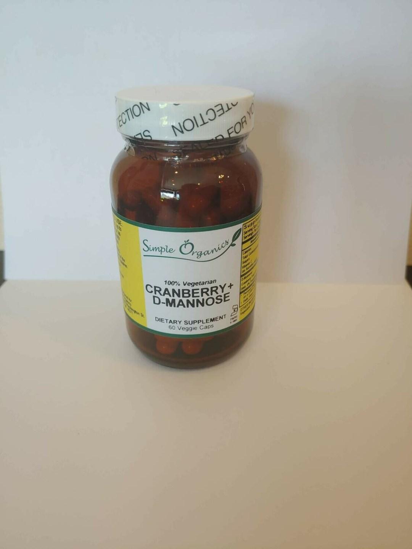 Simple Organics Cranberry D-mannose