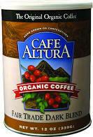 Cafe Altura Ground Fair Trade Dark Roast 12oz