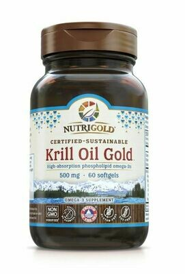 Nutrigold Krill Oil Gold 500mg 60 Softgels