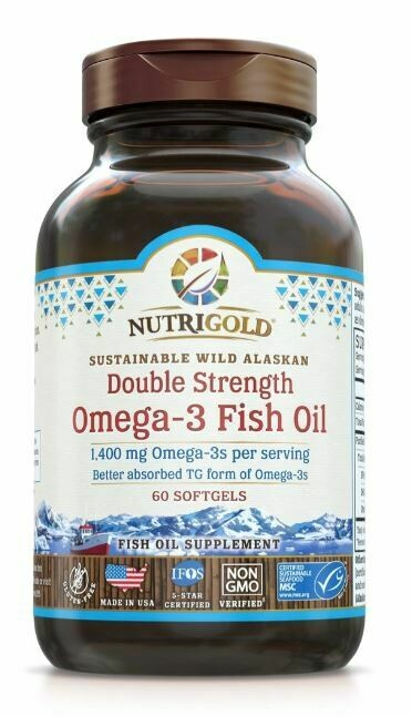 Nutrigold Double Strength Omega 3 60sgel