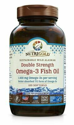 Nutrigold Double Strength Omega 3 120sgel