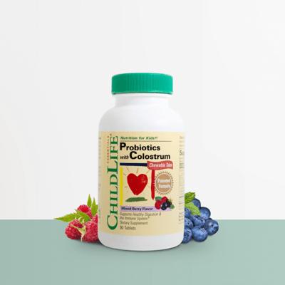 Childlife Colostrum Probiotics Berry 90tab