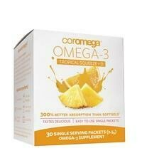 Coromega Omega-3 Fish Oil Tropical Squeeze+D 30 Packet