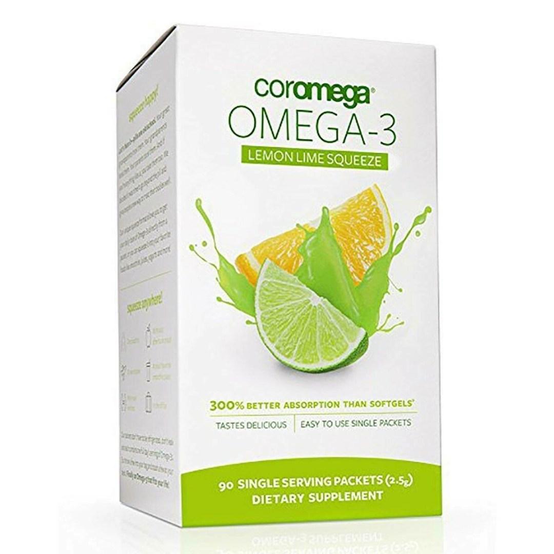 Coromega Omega - 3 Lemon Lime Squeeze 90 Servings
