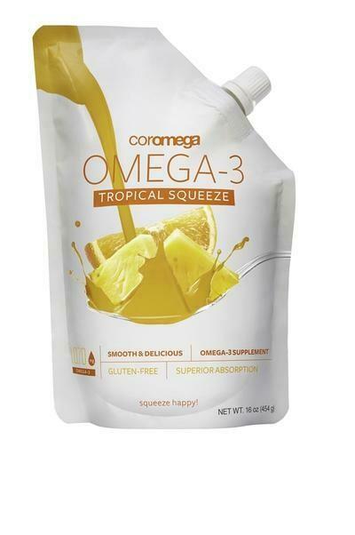 Coromega MAX Omega-3 Fish Oil Tropical Big Squeeze 16oz