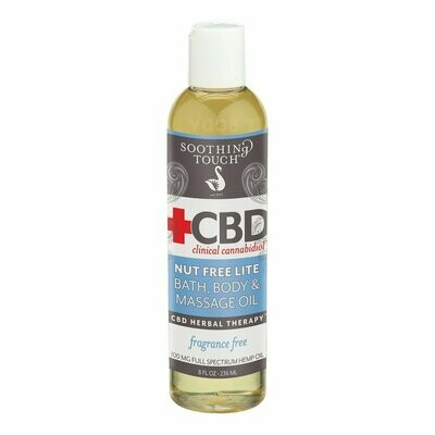 Soothing Touch Cbd Bath Body Oil 8 Oz