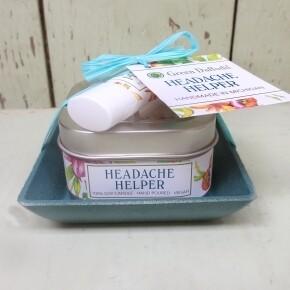 Green Daffodil Headache Helper Candle And Lip Balm Dish Kit