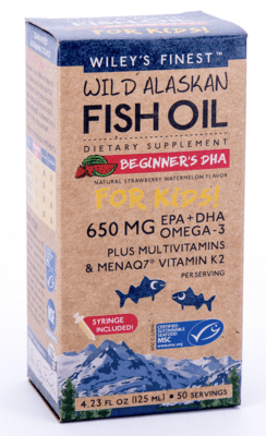 Wiley's Finest Beginners DHA Fish Oil For Kids