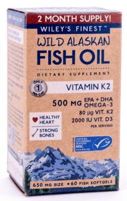 Wileys Finest Vitamin K2 60sgel