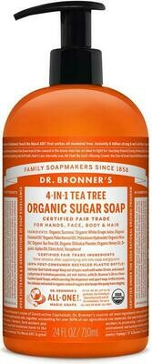 Dr. Bronner's 4-in-1Organic Sugar Soap Tea Tree 24oz