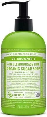 Dr. Bronner's 4-in-1Organic Sugar Soap Lemongrass Lime 12oz