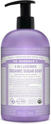 Dr. Bronner's 4-in-1Organic Sugar Soap Lavender 24oz