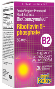 Natural Factors BioCoenzymated R5P (Riboflavin 5'-phosphate) 50mg Vcap 30