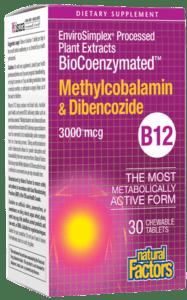 Natural Factors BioCoenz MethB12/Dibenc Tab 30