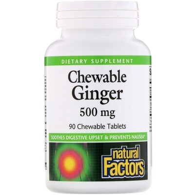 Natural Factors Chewable Ginger 500mg 90 Tab